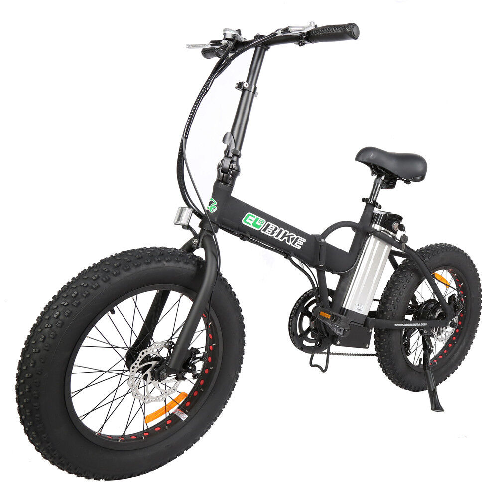 electric folding bike foldable fat tire bicycle beach. Black Bedroom Furniture Sets. Home Design Ideas