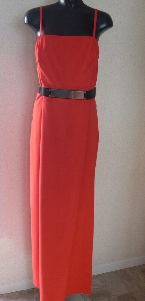 Red maxi dress size 18