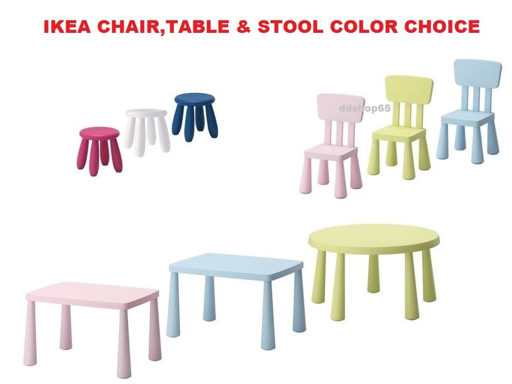 ikea mammut children 39 s table stool chair indoor outdoor colours style new ebay. Black Bedroom Furniture Sets. Home Design Ideas