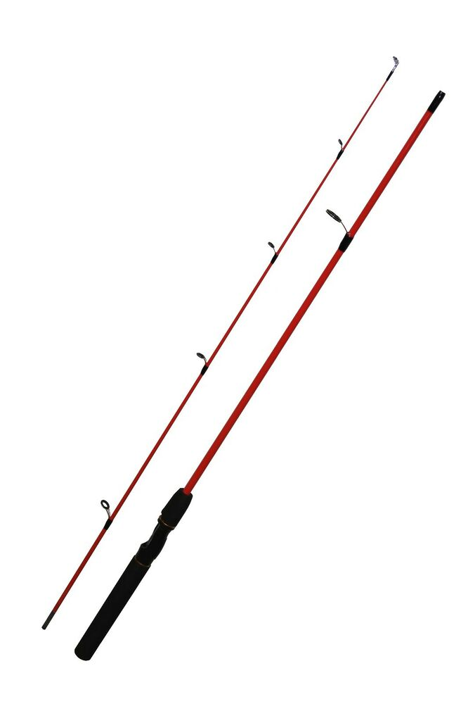 2 Piece Red Fish Casting Rod With Foam Handle Ebay