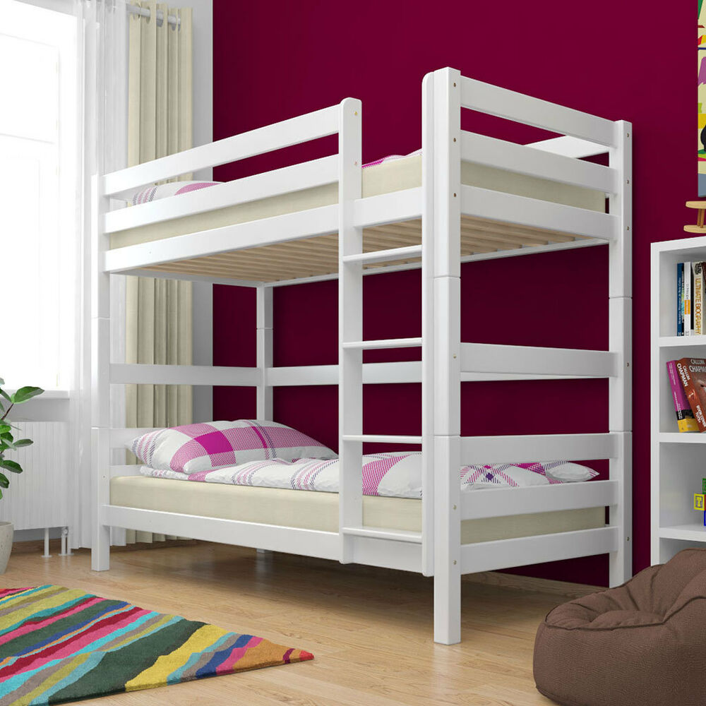 etagenbett stockbett wei buche massiv kinderbett hochbett. Black Bedroom Furniture Sets. Home Design Ideas