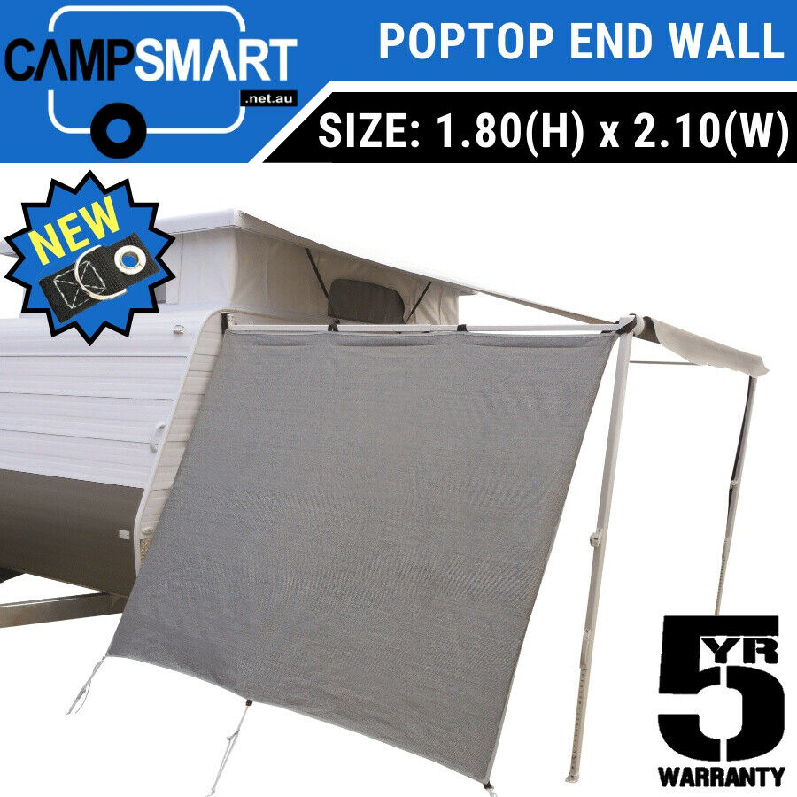Pop Top Privacy Screen End Wall Side Sunscreen Poptop