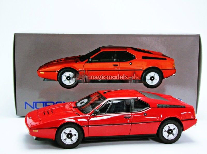 1978 bmw m1 red color limited edition of 2500 by norev in 1 18 scale in stock ebay. Black Bedroom Furniture Sets. Home Design Ideas