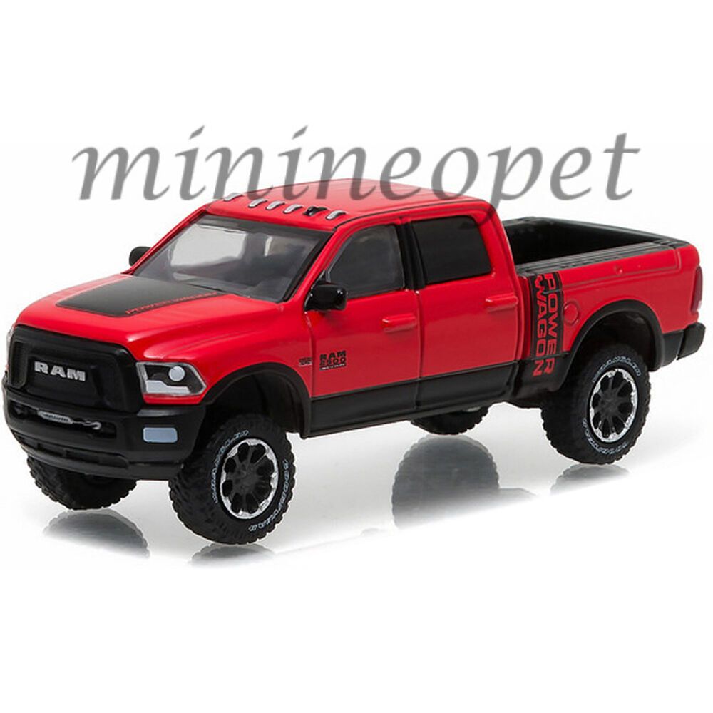greenlight 29873 2017 17 dodge ram 2500 power wagon 164 diecast red black - Dodge Ram 2500 2014 Red