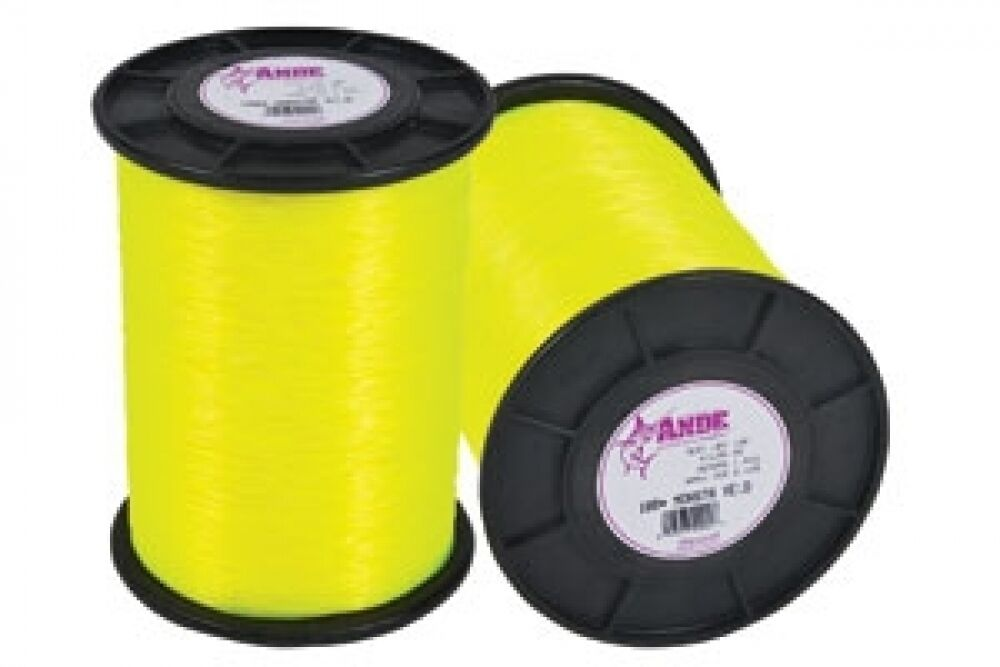 Ande monster yellow monofilament 50 lb test 1lb spool for Ande fishing line