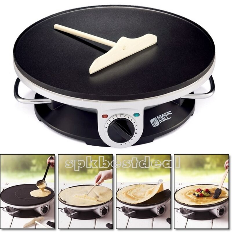 Mini Kitchen Pancakes: Commercial Electric Crepe Maker Pancake Pan Griddle Plate