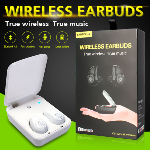 authentic true wireless stereo headphone bluetooth earbuds fast charging white ebay. Black Bedroom Furniture Sets. Home Design Ideas