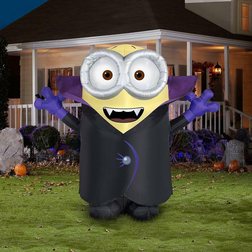 Halloween lawn decorations diy - 8 5 Gone Batty Halloween Yard Inflatable Minons