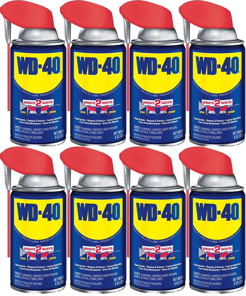 8 Cans 8 OZ Smart Straw Spray WD-40 Company Lubricants UPC