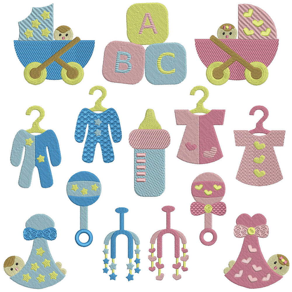Baby basics machine embroidery patterns designs