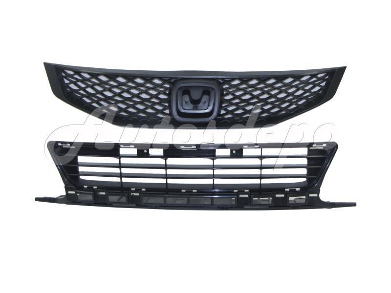 For 2009 2010 Honda Civic Coupe Grille Front Bumper Lower