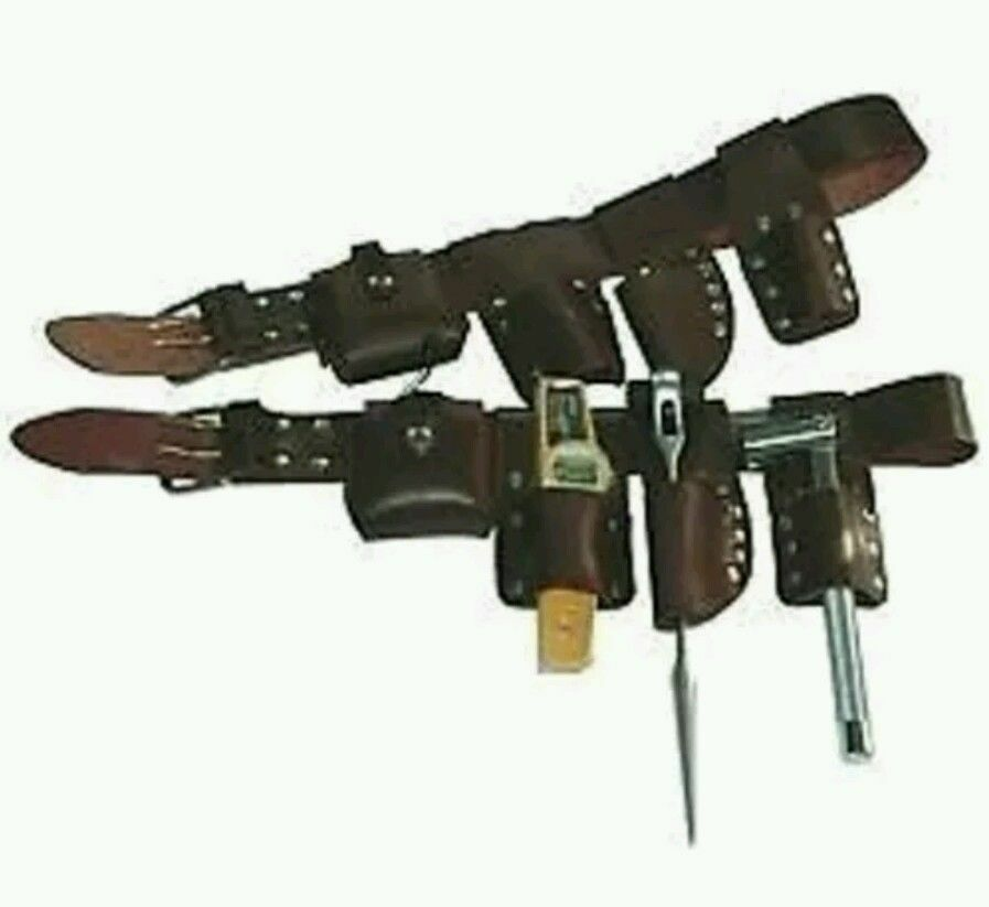 2 quot scaffolding leather belt with tools set qualty item uk
