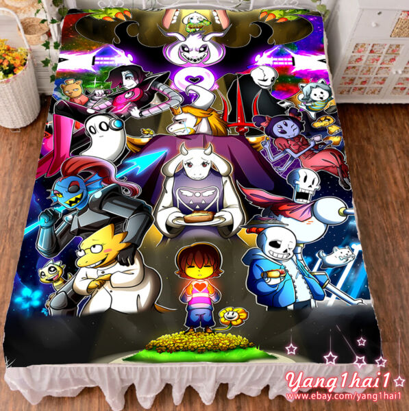 Game Undertale Sans Papyrus Cool Summer Flat Bed Sheet Blanket Birthday Gift #22