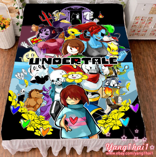 Game Undertale Sans Papyrus Cool Summer Flat Bed Sheet Blanket Birthday Gift #28