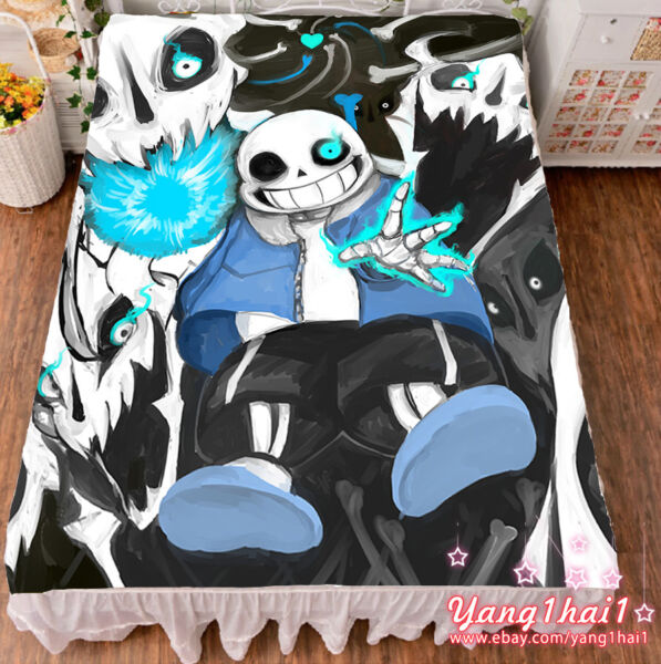 Game Undertale Sans Papyrus Cool Summer Flat Bed Sheet Blanket Birthday Gift #29