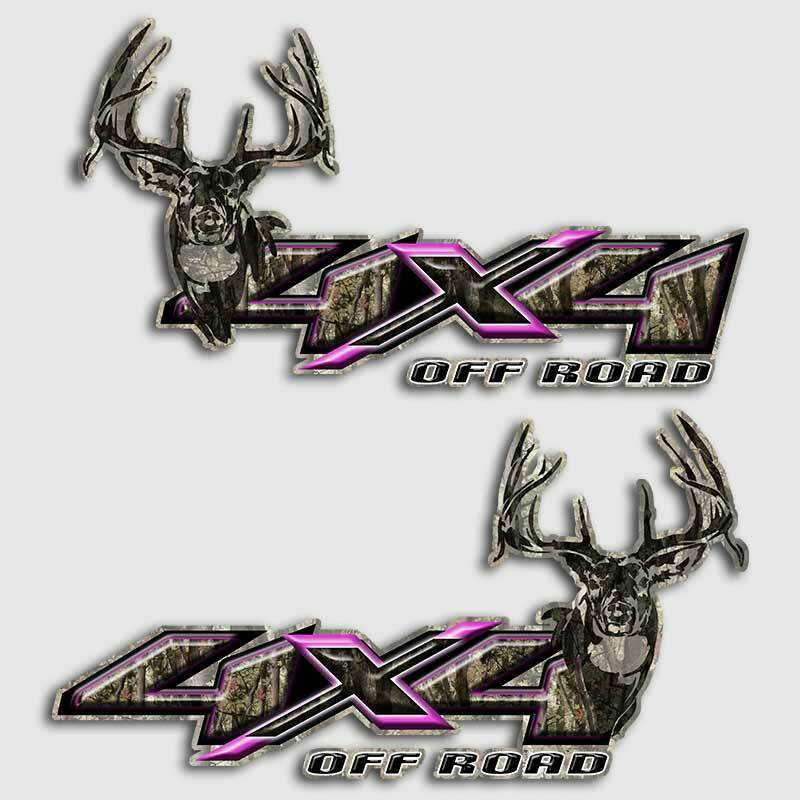 Details about 4x4 pink camouflage truck hunting decal sticker deer camo archery off road