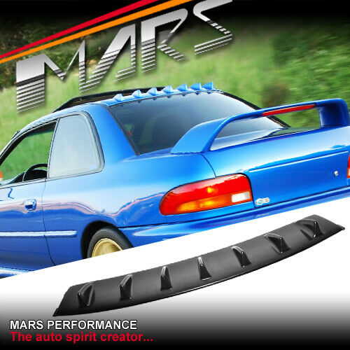 Gloss Black Rear Roof Fin Spoiler For Subaru Gc8 Impreza
