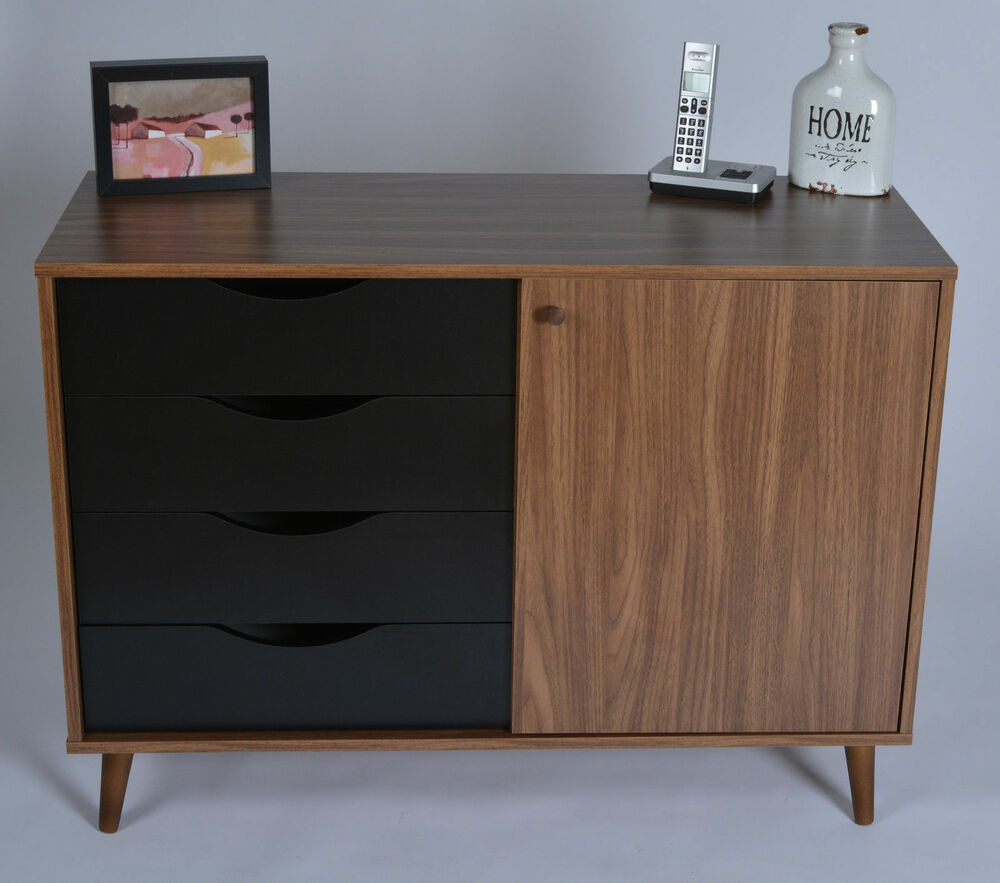 Small Sideboard Cabinet Living Room Cupboard Storage Retro