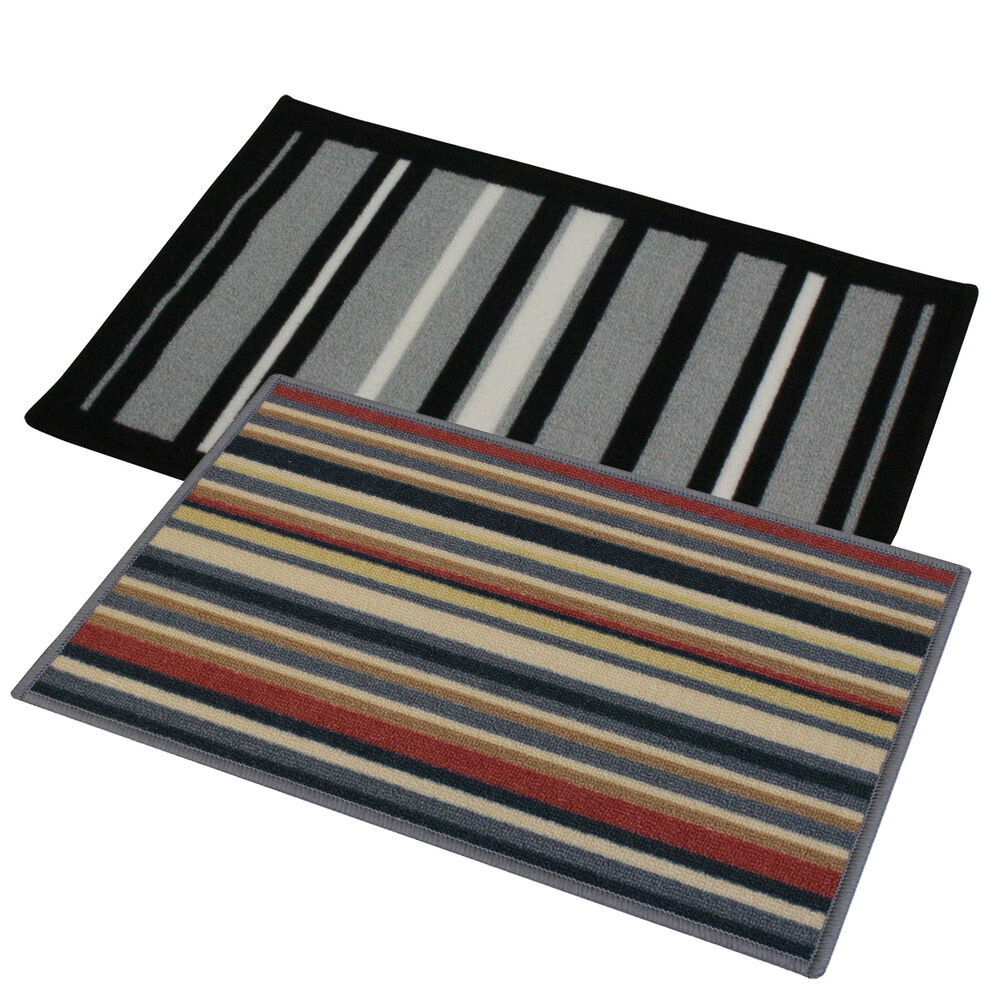Striped Machine Washable Entrance Door Floor Mat 40 X 60