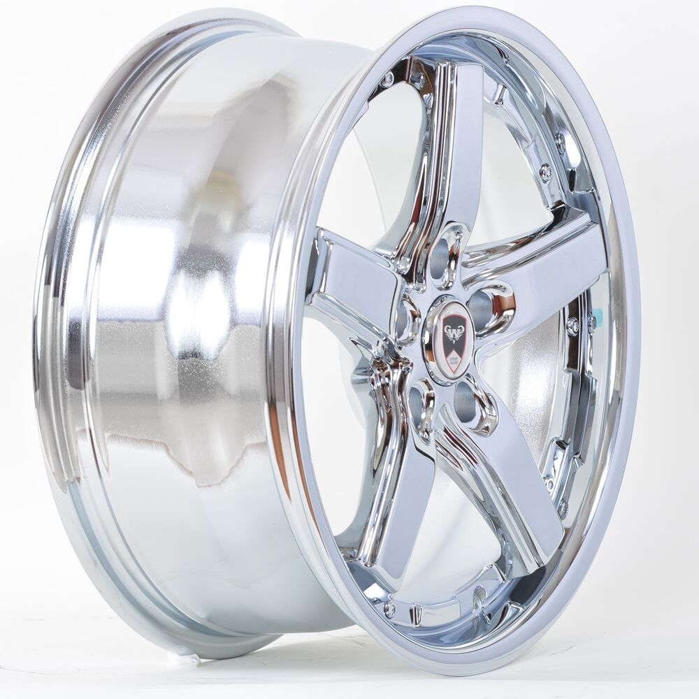 4 gwg wheels 17 inch chrome drift rims fits 5x115 pontiac. Black Bedroom Furniture Sets. Home Design Ideas