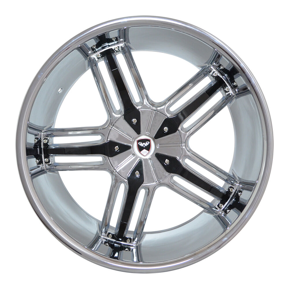 4 gwg wheels 20 inch chrome black spade rims fits 5x112 for Chrome rims for mercedes benz