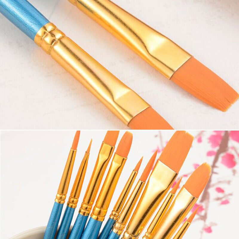 10pcs beauty artist paint brushes set art painting for Canvas painting supplies