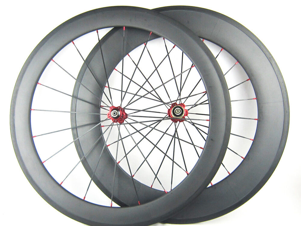 60mm 88mm carbon road bike wheels clincher tubular bicycle for Bicycle rims