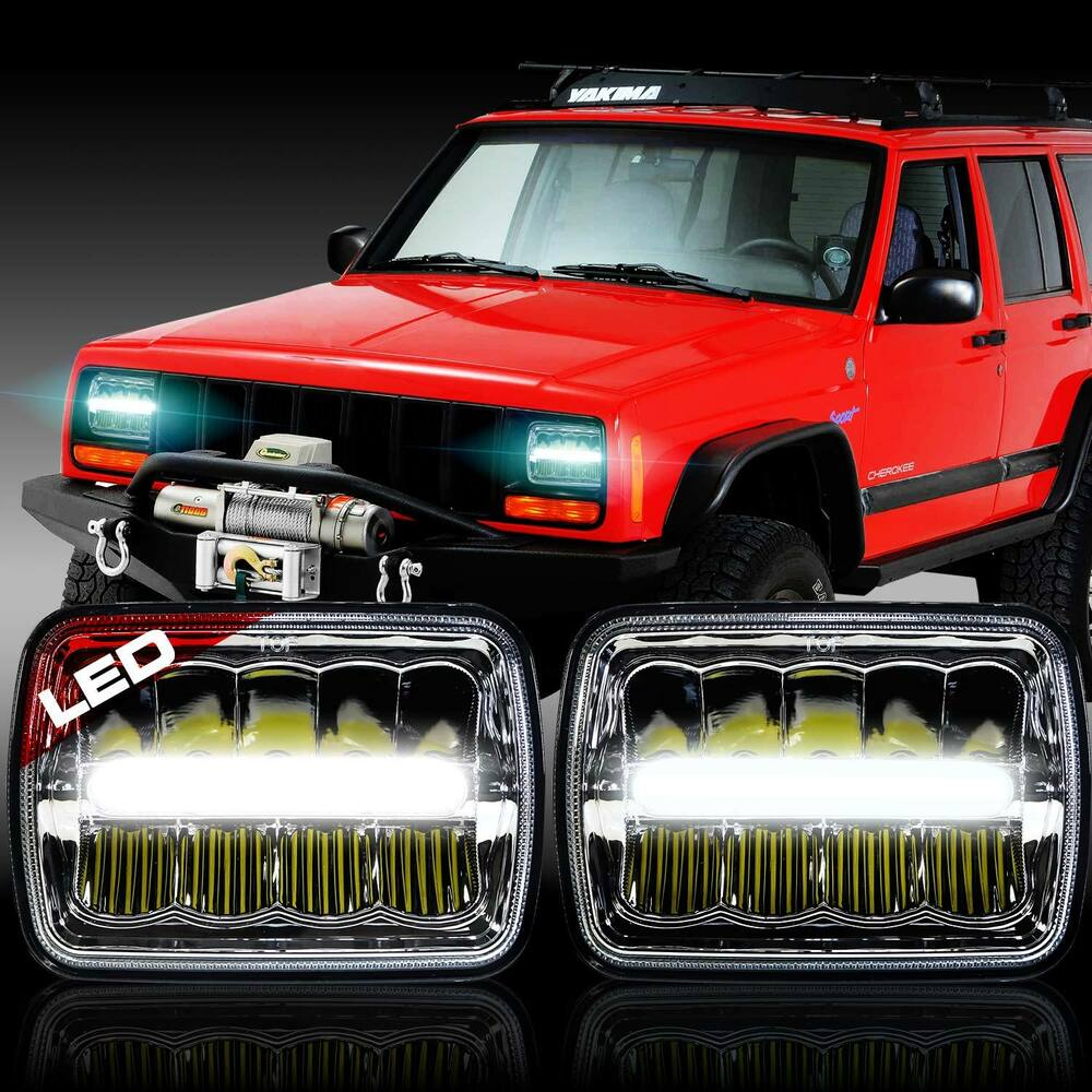 "2x New! LED 5"" X 7"" LED Headlight Replacement for Jeep ..."