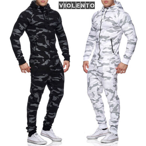 herren jogginganzug camouflage jogging hose jacke sportanzug sporthose army ebay. Black Bedroom Furniture Sets. Home Design Ideas