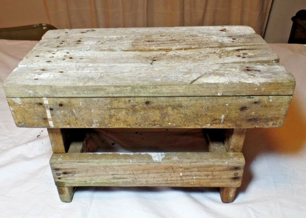 vintage shabby chic foot stool ebay. Black Bedroom Furniture Sets. Home Design Ideas