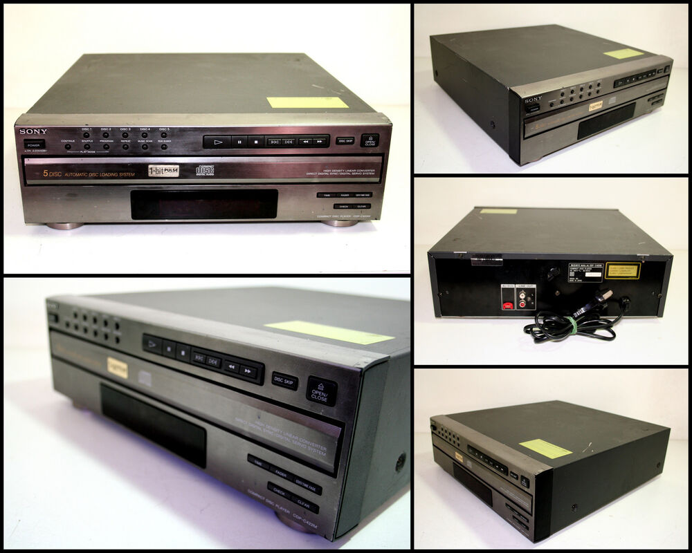sony compact disc player cdp cx355 manual