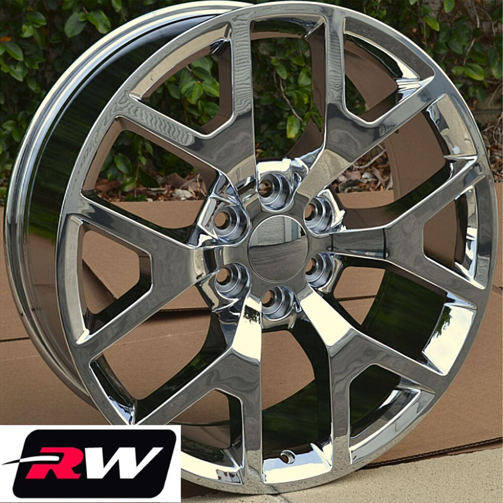 gmc sierra 22 inch chrome rims oe factory replica wheels. Black Bedroom Furniture Sets. Home Design Ideas