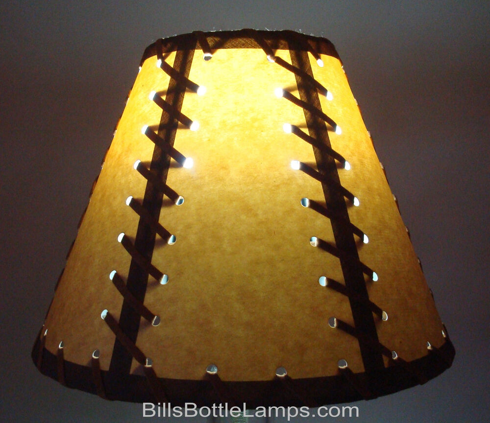 Rustic double laced cabin table light lamp shade clip on for 7 inch table lamp shades