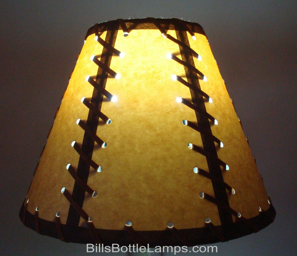 rustic double laced cabin table light lamp shade clip on bulb style 9. Black Bedroom Furniture Sets. Home Design Ideas