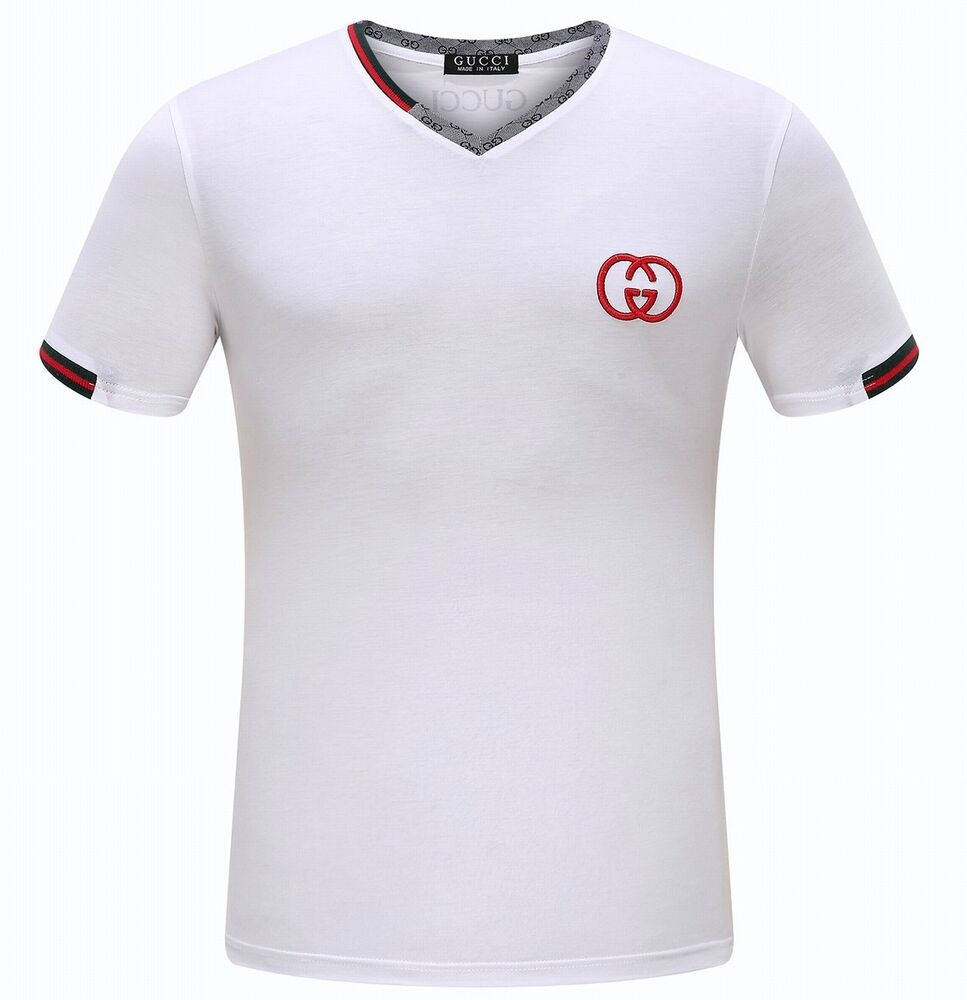 mens fashion gucci mens t shirt white s m l xl ebay. Black Bedroom Furniture Sets. Home Design Ideas