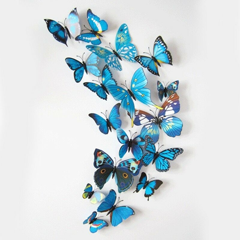 butterfly 3d pvc magnet wall stickers childrens wall decoration kids