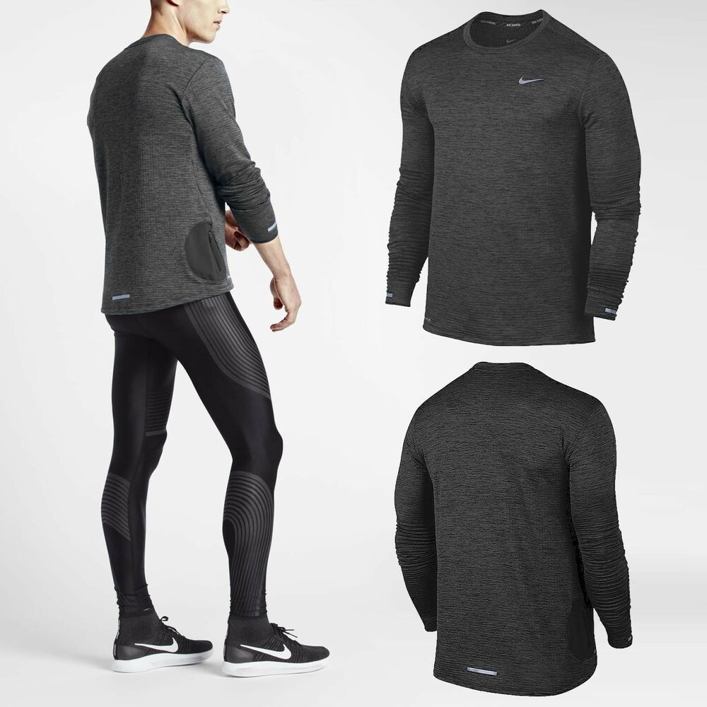 Nike Therma Sphere Element Men Long Sleeve Running Top Black 807454-010 |  eBay