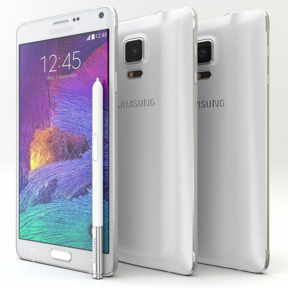 5 7 39 39 samsung galaxy note4 at t n910a unlocked android mobile phone white ebay. Black Bedroom Furniture Sets. Home Design Ideas