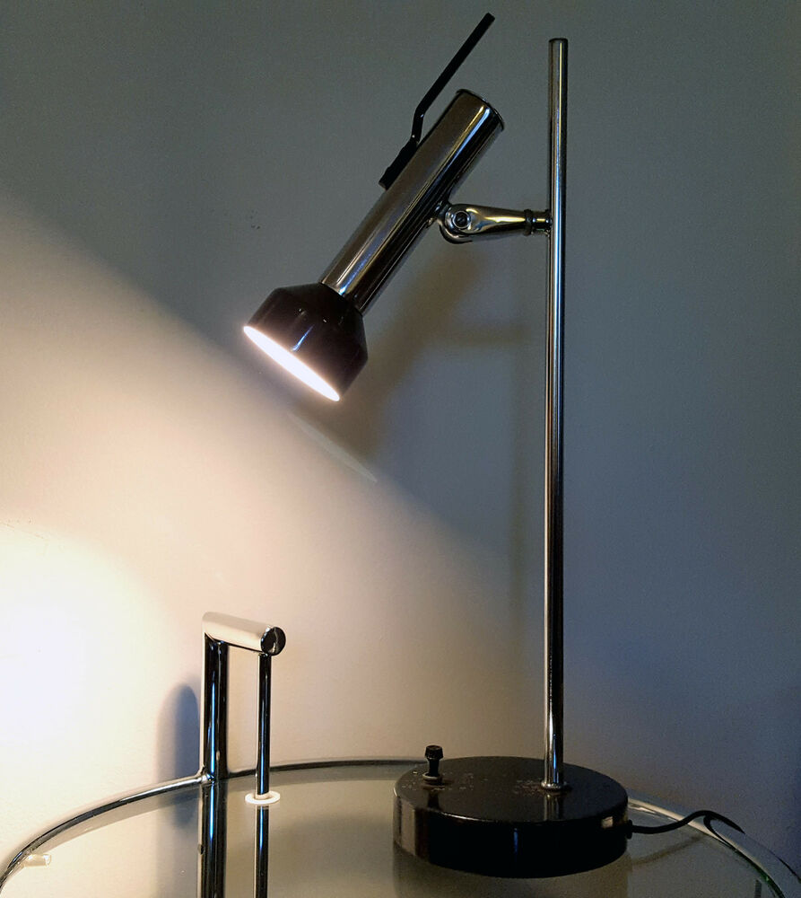 modern desk lamp mid century modern desk lamp vintage table light chrome 10712