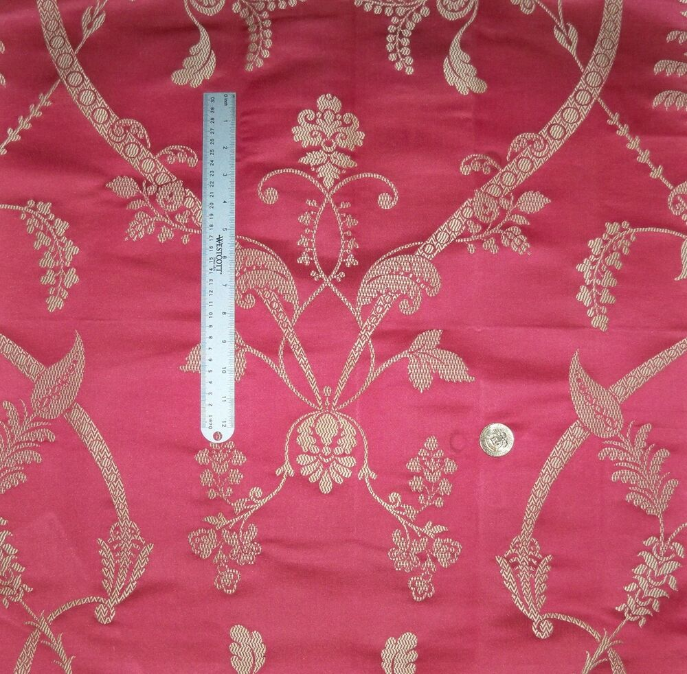Schumacher French Acanthus Twirls Amp Scrolls Silk Damask
