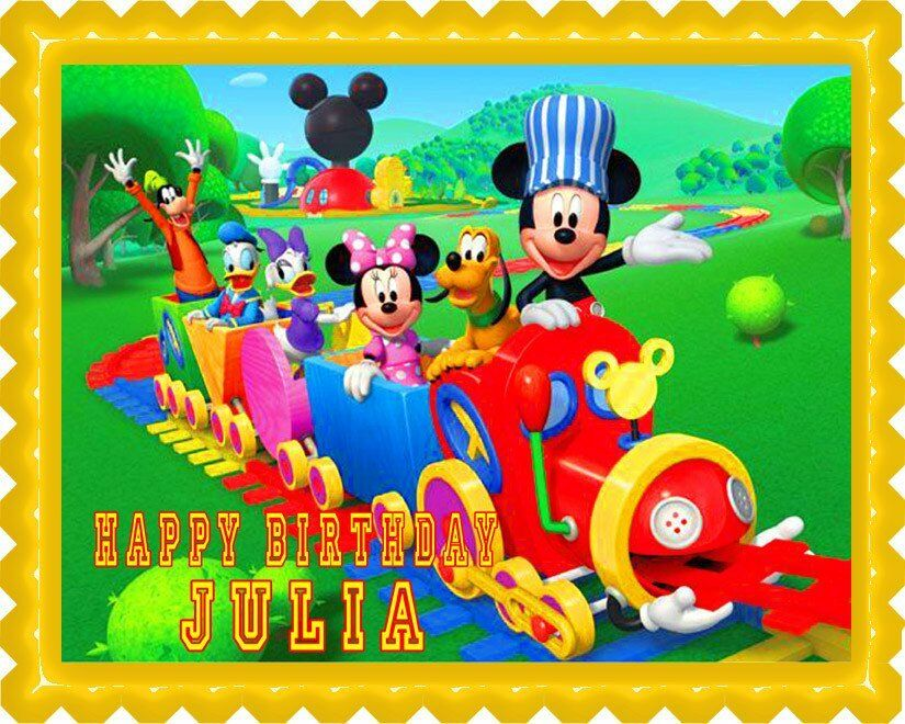 Buy Mickey Mouse Cake Topper Edible Image