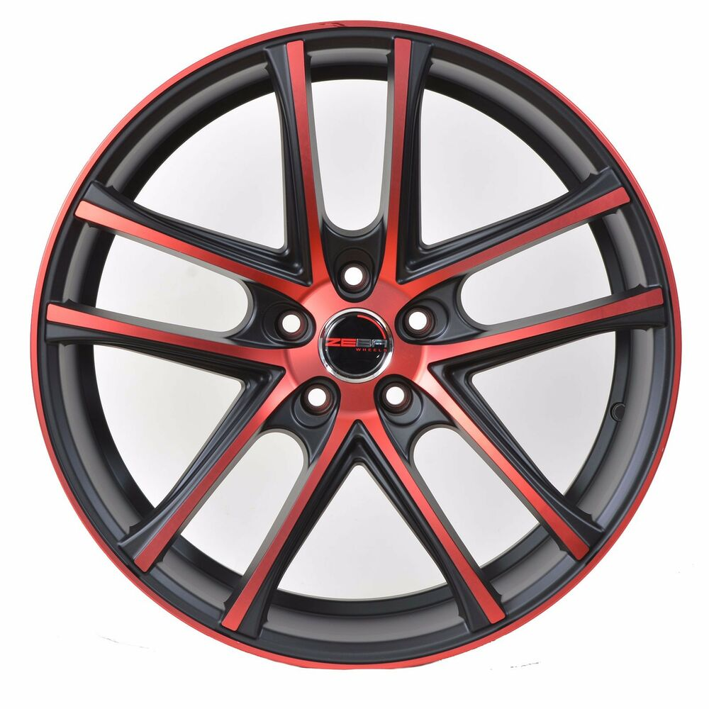 4 GWG Wheels 17 Inch Crimson Red ZERO Rims Fits 5X114.3