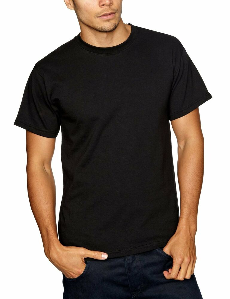 10 pack fruit of the loom heavy weight plain black t shirt. Black Bedroom Furniture Sets. Home Design Ideas