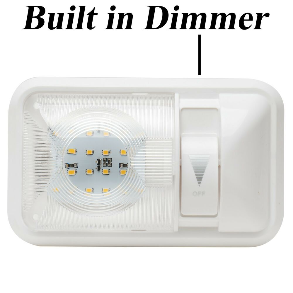 Rv Interior Led Ceiling Light Boat Camper Trailer Single Dome 12v 280lm Dimmer Ebay