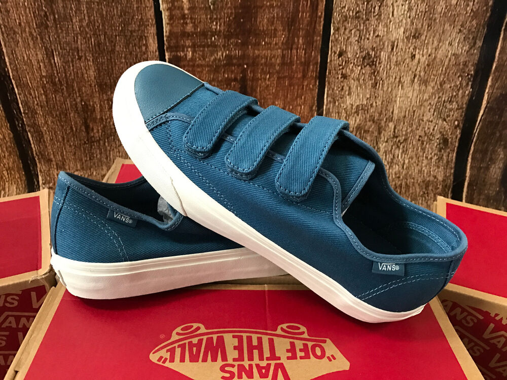 6ca0f5736c3344 Details about VANS PRISON ISSUE TWILL BLUE ASHES BLANC DE BLANC MENS SIZE 9  NEW SKATE SHOES