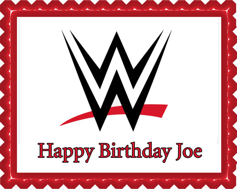Wwe Edible Birthday Cake Topper Or Cupcake Topper Decor
