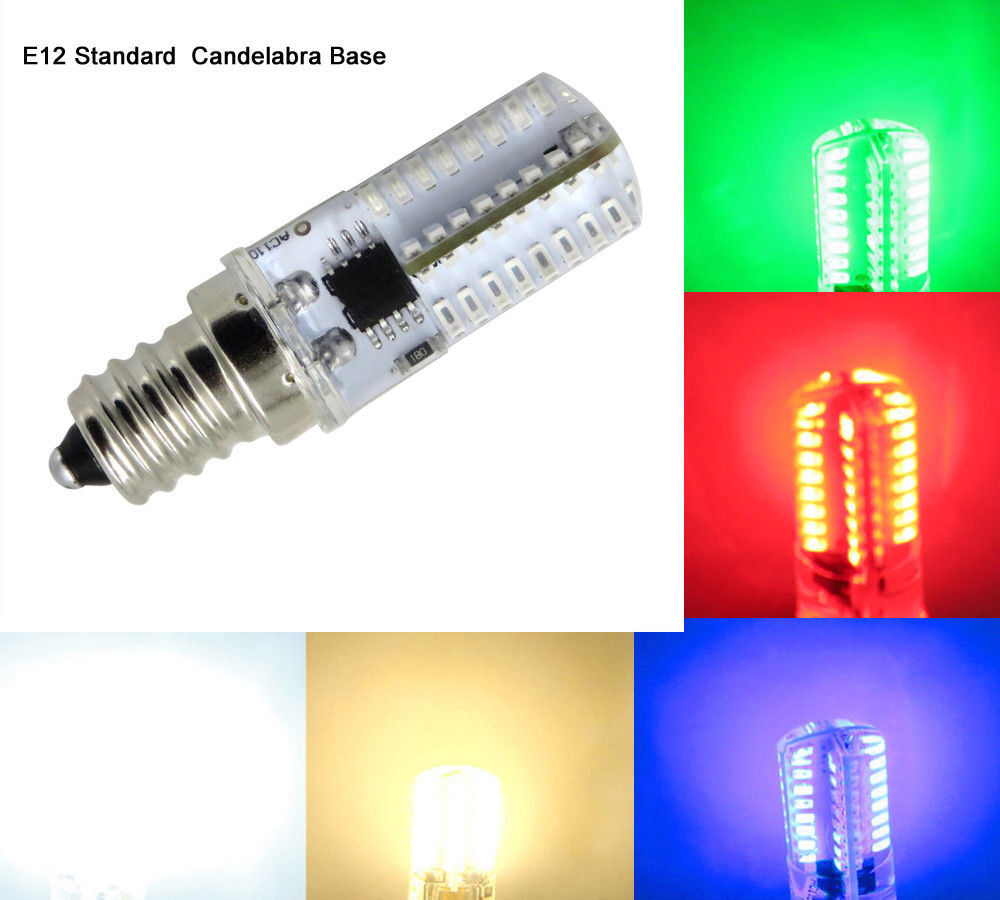 E12 C7 Led Bulb Red Green Blue White Warm 64 3014smd
