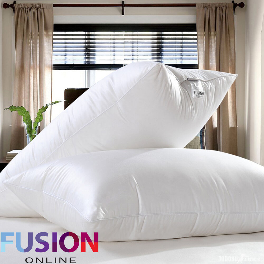 Pair Of Premium Luxury Goose Feather And Down Pillows 85