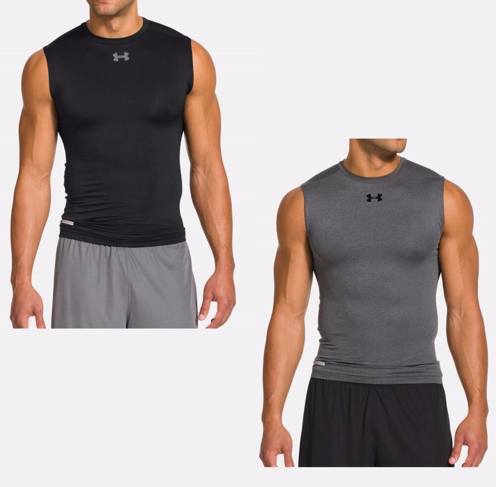 Under armour men 39 s heatgear sonic compression sleeveless t for Under armour men s heatgear sonic fitted t shirt