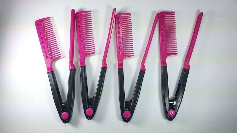 hair comb style hair straightener brush straightening v styling comb 5025